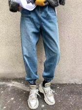 Vintage High Waist Straight Ladies Jeans