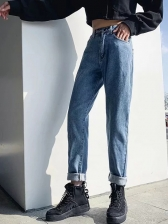 Thicken Easy Matching Straight Jeans