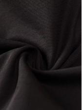 Letter Printed Single Breasted Black Jumpsuit