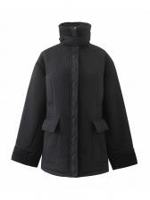Lambswool Solid Women\\\\\\\'s Winter Coats