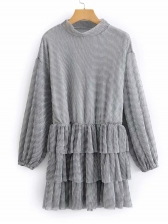 Simple Solid Layered Dresses For Women