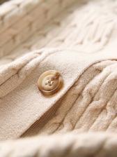 Loose Solid Knitting Short Coat