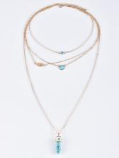 Fashion Multi-Layer Turquoise Pendant Necklace