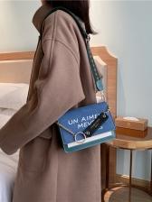 Letter Printing Wide Belt Shoulder Bags For Women