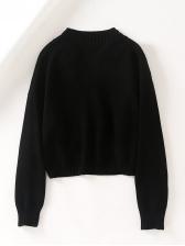 Pin Decor Short Black Cardigan