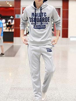 Casual Letter Hoodies Mens Activewear