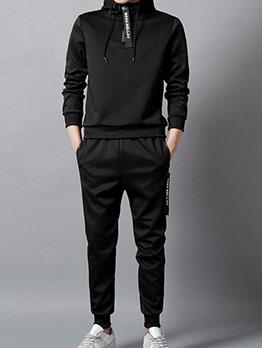 Casual Hoodies Letter Men\'s Activewear