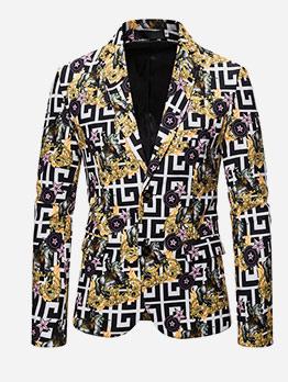 Fashion 3D Creative Printing Blazer Coat