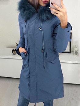 Fur Hooded Cashmere Long Puff Coat