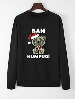 Fashion Dot Printed Christmas Sweatshirt