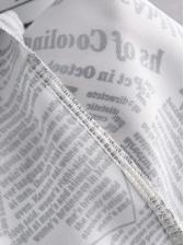 Newspaper Printed Irregular Ruffles Hem Skirt
