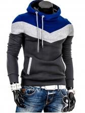 Trendy Color Block Men Cute Hoodies