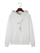 Moon And Astronaut Printed Hoodies For Women