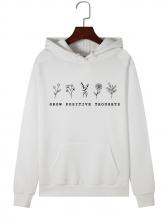 Botanical Printed Hoodies For Women