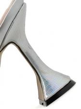Stylish Cone Heel Specular Pu Slip On High Heels