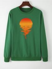 Casual Sunset Loose Cool Sweatshirts