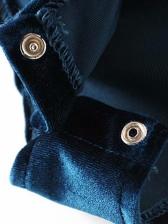 V Neck Long Sleeve Velvet Bodysuit
