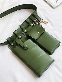 New Arrival Small Solid Color Ladies Bum Bags