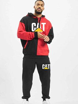 Sporty Contrast Color Letter Activewear Sets
