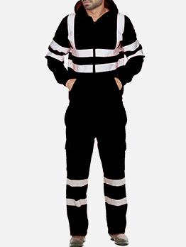 Winter Reflective Color Block Men\'s Activewear