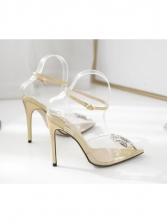 Sunflower Metal Splicing Transparent Heels