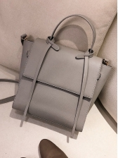 Large Capacity Pure Color Ladies Handbags With Belt