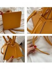 Rectangular Pyramid Solid Fashion Handbags With Belt