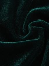 Irregular Hem Short Green Corduroy Skirt
