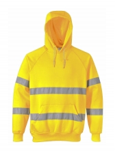 Reflective Contrast Color Thick Hoodies For Men