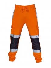 Casual Reflective Color Block Jogger Pants