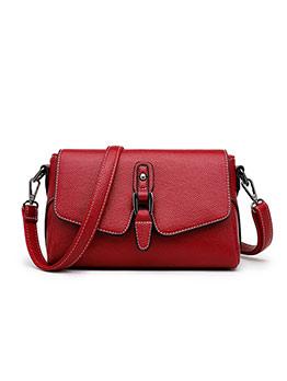 Simple Style Solid Pu Detachable Belt Shoulder Bags