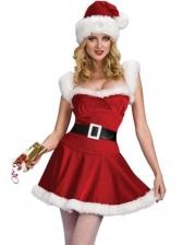 Sexy Cosplay Christmas Sleeveless Dress