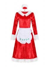 Maid Cosplay Red Christmas Dress