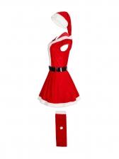 Cosplay Hooded Short Sleeve Christmas Dress