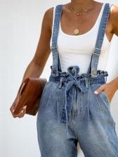 New Arrival Tie-Wrap Blue Jean Suspenders