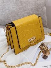 Square Solid Metal Hasp Gold Chain Shoulder Bag