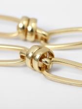 Chic Geometric Ellipse Chain Necklace