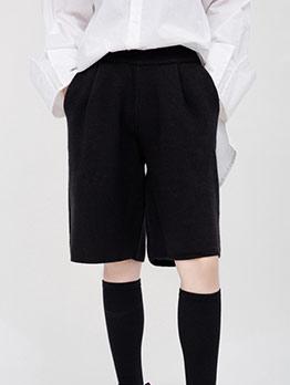 Black Short Wide Leg Pants
