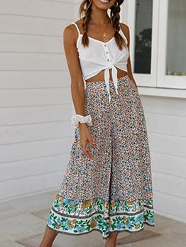 Bohemian Floral Printed Loose Pants