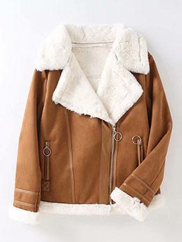 Fashion Short Winter Fleece Coat