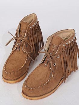 Fashion Tassel Studded Ladies Boots