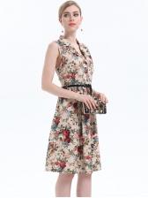 New Arrival Flower Pattern Plus Size Dresses