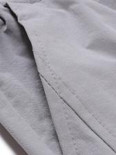 Casual Pure Color Drawstring Jogger Pants