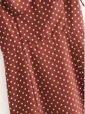 Polka Dots Spaghetti Strap Split Hem Sexy Dress