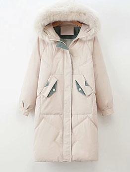 Fur Hooded Long Down Coat