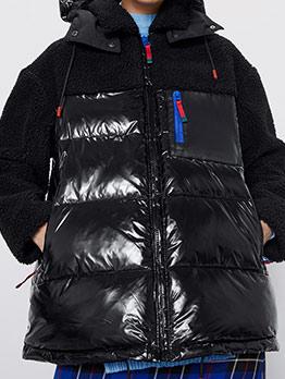 Winter Patchwork Down Coat Women