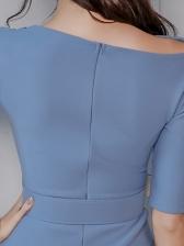 Elegant Pure Color Dresses For Women