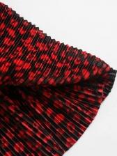 Leopard Printed Slim Waist V Neck