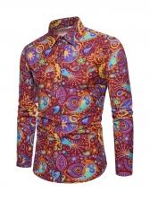 Euro Classic Tribal Printed Button Down Shirt