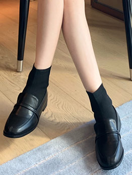 Patchwork Slip On Sock Ankle Boots